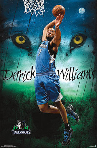 "Derrick Williams ""Wolfman"" Minnesota Timberwolves NBA Basketball Poster - Costacos 2013"
