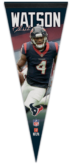 "Deshaun Watson ""Signature Series"" Houston Texans Premium NFL Felt Collector's Pennant - Wincraft"