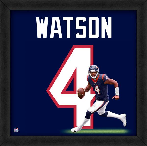 "DeShaun Watson ""Number 4"" Houston Texans FRAMED 20x20 UNIFRAME PRINT - Photofile"