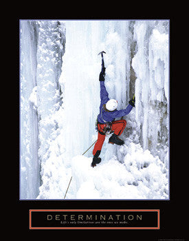 "Ice Climber ""Determination"" Motivational Poster - Front Line"