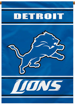 Detroit Lions Official NFL Team Premium 28x40 Banner Flag - BSI Products