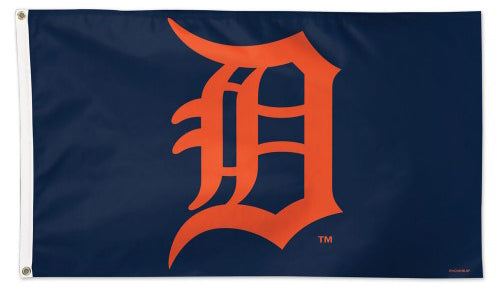 Detroit Tigers Official MLB Baseball 3'x5' Team Logo Deluxe-Edition Banner Flag - Wincraft