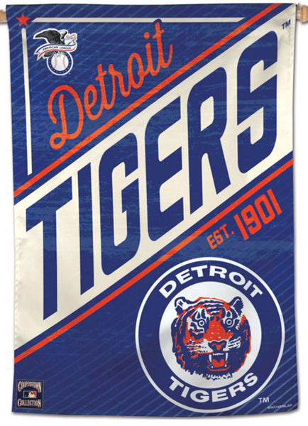"Detroit Tigers ""Since 1901"" MLB Cooperstown Collection Premium 28x40 Wall Banner - Wincraft Inc."