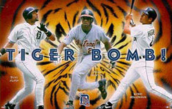 "Detroit Tigers ""Tiger Bomb"" MLB Action Poster (1998) - Costacos Brothers"
