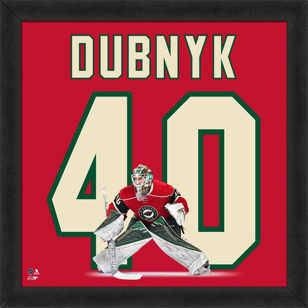 "Devan Dubnyk ""Number 40"" Minnesota Wild NHL FRAMED 20x20 UNIFRAME PRINT - Photofile"