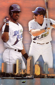 "Tampa Bay Devil Rays ""Homecoming"" Poster (McGriff, Boggs) - Costacos 1998"