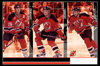 "New Jersey Devils ""A-Line"" (Arnott, Elias, Sykora) Poster - Costacos 2002"