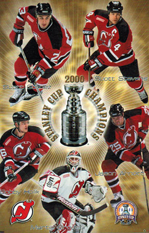 New Jersey Devils 2000 Stanley Cup Champions Commemorative Poster - Costacos Sports