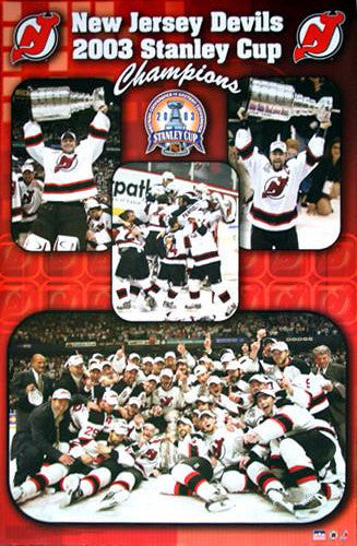 "New Jersey Devils ""Celebration 2003"" Stanley Cup Commemorative Poster - Starline Inc."