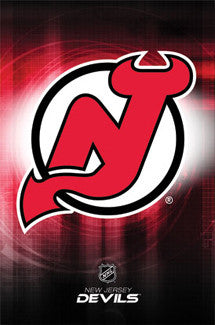 New Jersey Devils Official NHL Team Logo Poster - Costacos Sports