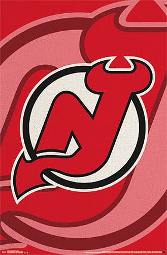 New Jersey Devils Official NHL Hockey Team Logo Poster - Costacos Sports