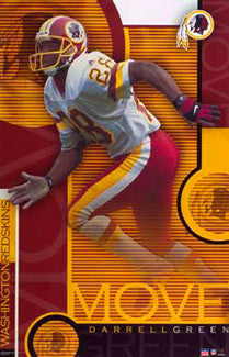 "Darrell Green ""Move"" Vintage Washington Redskins Poster - Starline 2002"