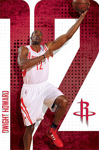 "Dwight Howard ""Rocket Man"" Houston Rockets NBA Action Poster - Costacos 2013"