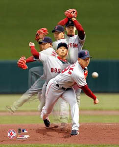 "Daisuke Matsuzaka ""The Pitch"" Boston Red Sox Premium Poster Print - Photofile 2007"