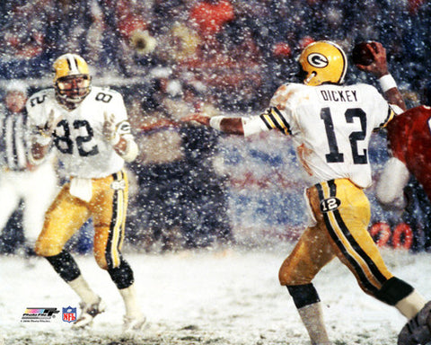"Lynn Dickey ""Snow Bowl 1983"" Green Bay Packers Premium Poster Print - Photofile Inc."