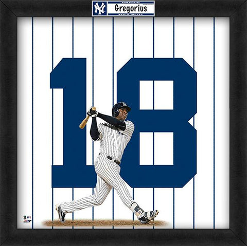 "Didi Gregorius ""Number 18"" New York Yankees MLB FRAMED 20x20 UNIFRAME PRINT - Photofile"