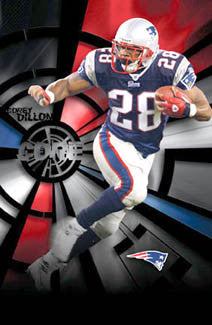 "Corey Dillon ""Core"" New England Patriots Action Poster - Costacos 2005"