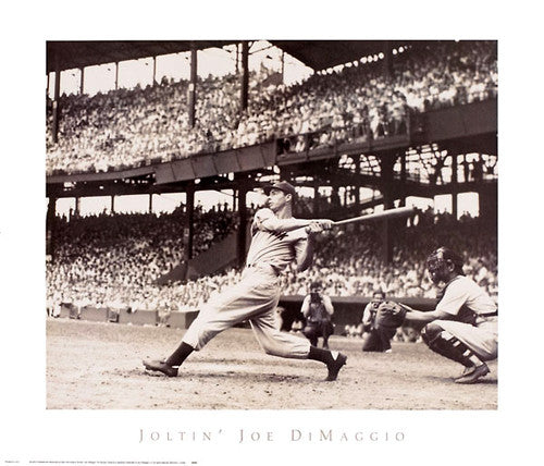 Joltin' Joe DiMaggio New York Yankees 1941 56-Game Hit Streak Premium Poster Print - NYGS