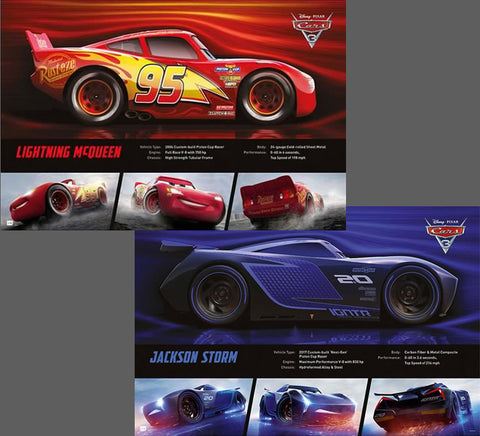 Disney-Pixar Cars 3 (2017) Two-Poster Set - LIGHTNING MCQUEEN and JACKSON STORM Posters