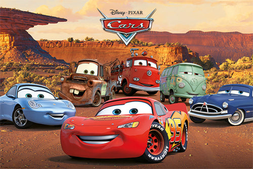 "Disney-Pixar Cars ""Classic Six"" Poster - Pyramid International"