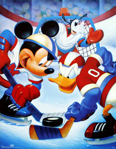Mickey, Donald and Goofy Disney Hockey Poster - OSP Publishing