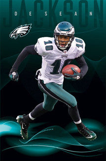 "DeSean Jackson ""Superstar"" Philadelphia Eagles Action Poster - Costacos Sports"