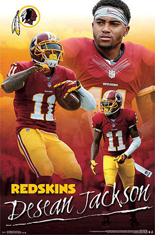 "DeSean Jackson ""Triple-Action"" Washington Redskins NFL Poster - Costacos Sports"