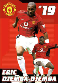 "Eric Djemba-Djemba ""Red Lion"" - GB Posters 2003"