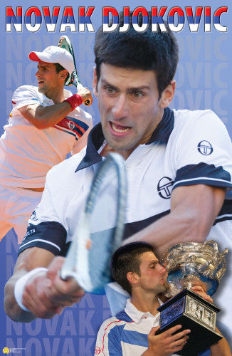 "Novak Djokovic ""Superstar"" Action Poster - Tennis Life 2011"