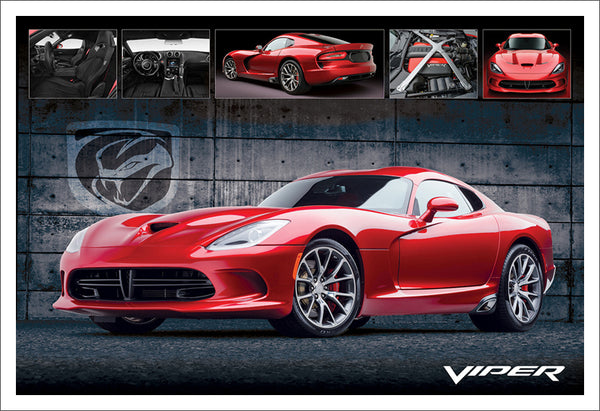 Dodge Viper Official Chrysler Supercar Sports Car Premium Poster Print - Eurographics