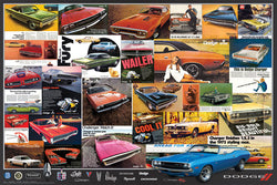 Dodge Vintage Classic Car Ad Collage Poster - Eurographics Inc.