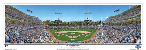"Los Angeles Dodgers ""Opening Day"" Dodger Stadium Panoramic Poster Print - Everlasting 2015"