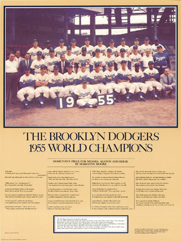 Brooklyn Dodgers 1955 World Series Champions Commemorative Poster