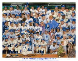 """90 Years of Dodger Blue"" by Robert Stephen Simon"