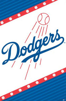Los Angeles Dodgers Official MLB Baseball Team Logo Poster - Costacos Sports Inc.