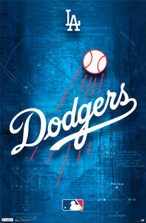 LA Dodgers Official Team Logo Poster - Costacos Sports