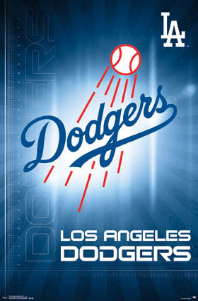 Los Angeles Dodgers Official MLB Baseball Team Logo Poster - Trends International