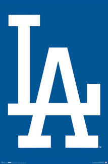 "L.A. Dodgers ""Big LA"" Logo Poster - Costacos Sports"