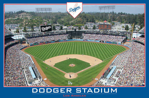 Los Angeles Dodgers Dodger Stadium Gameday Official MLB Poster - Costacos Sports
