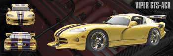 Dodge Viper GTS-ACR Three-Shot Car Poster - Import Images