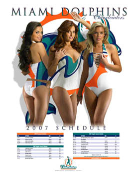 Miami Dolphins Cheerleaders 2007 Poster - The Time Factory