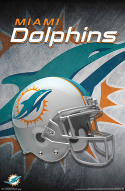 Miami Dolphins Official NFL Football Team Helmet Logo Poster - Trends International