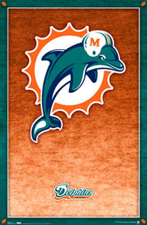 Miami Dolphins Official NFL Team Logo Poster - Costacos Sports