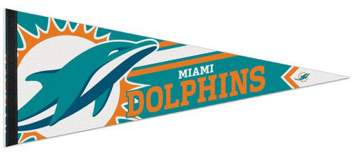 Miami Dolphins Official NFL Football Logo-Style Premium Felt Collector's Pennant - Wincraft