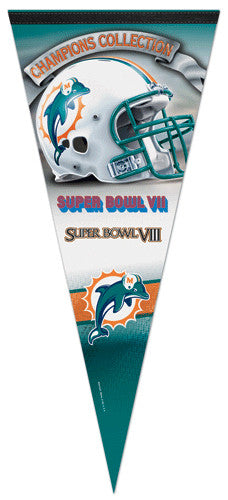 Miami Dolphins 2-Time Super Bowl Champions EXTRA-LARGE Premium Pennant