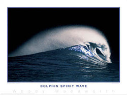 "Surfing ""Dolphin Spirit Wave"" Poster Print - Creation Captured"