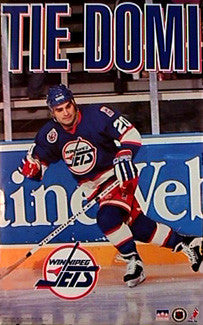 "Tie Domi ""Action"" Winnipeg Jets NHL Action Poster - Starline Inc. 1993"