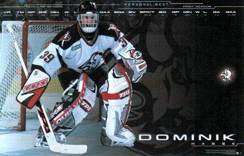 "Dominik Hasek ""Personal Best"" Buffalo Sabres NHL Action Poster - Costacos Sports 2000"
