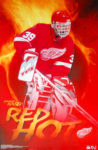 "Dominik Hasek ""Red Hot"" Detroit Red Wings NHL Goalie Superstar Poster - Starline 2002"
