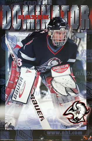 "Dominik Hasek ""The Dominator"" Buffalo Sabres NHL Hockey Goalie Action Poster - T.I.L. 1999"